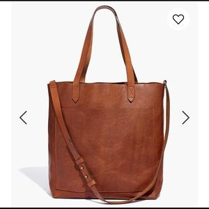 Madewell Medium Leather Transport Tote Brown